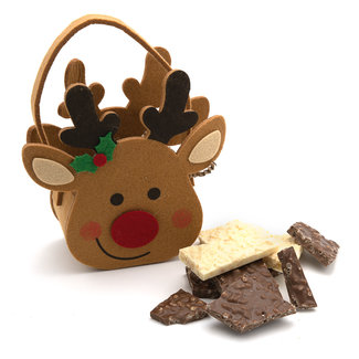 Chocomeli Milk and white chocolate in reindeer bag