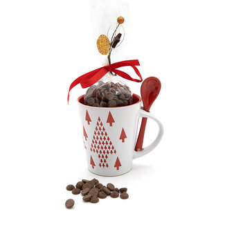 Chocomeli Hot milk chocolate in cup (red tree)