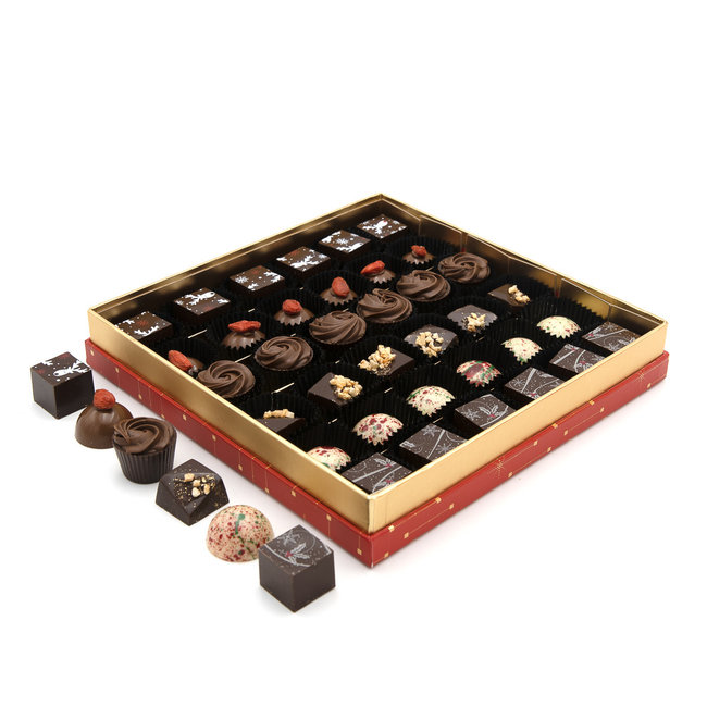 Chocomeli Christmas box 36 pralines