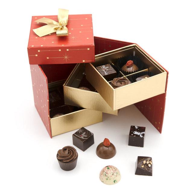 Chocomeli Christmas box 12 pralines