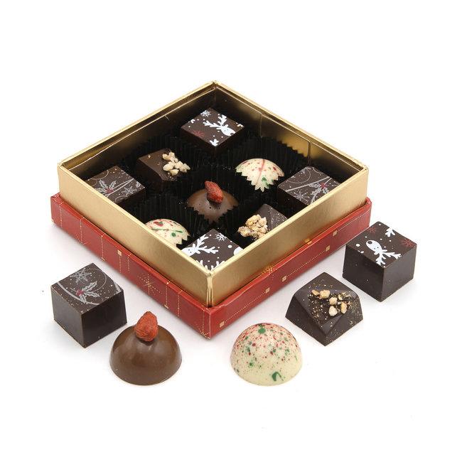 Chocomeli Christmas box 9 pralines
