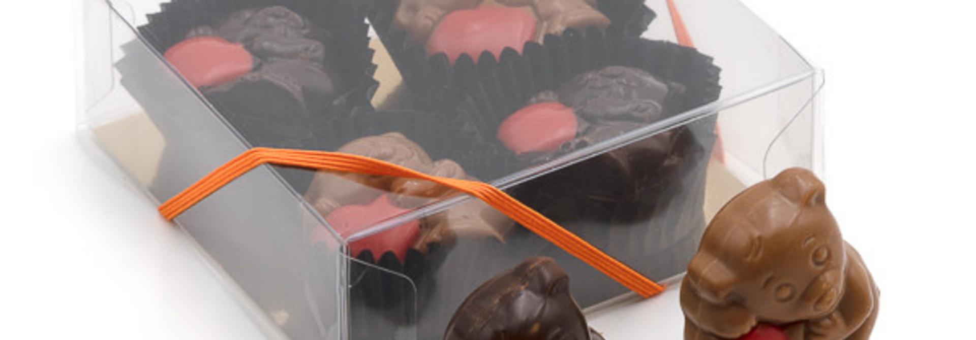 Box of little bears (praliné) 50 Grs