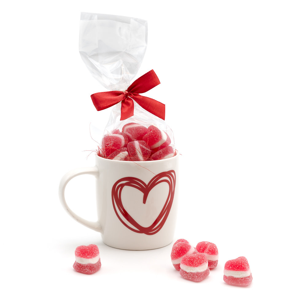 Sweets in a heart cup-1