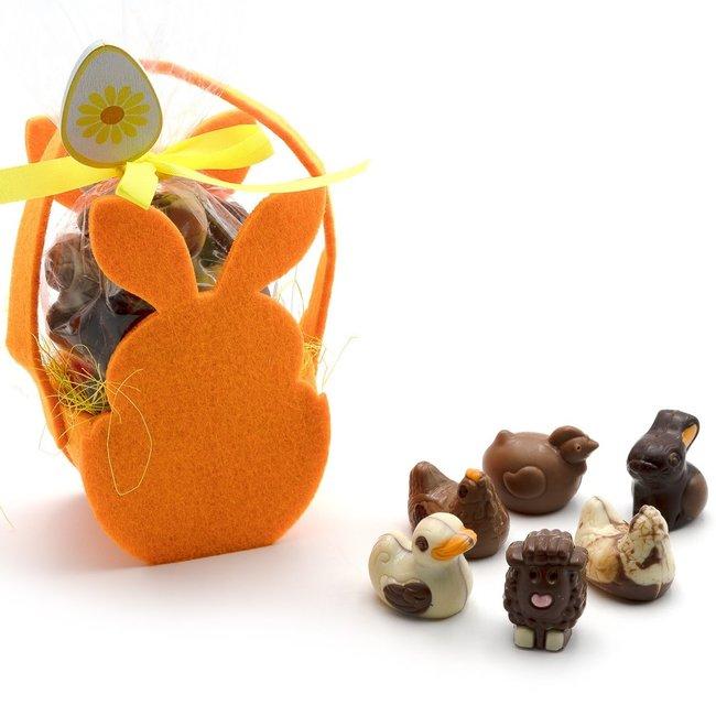 Trezor Assortment of Easter pralines in a bunny bag