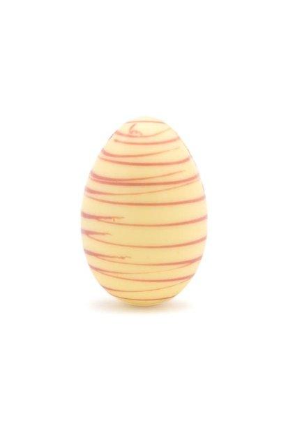 Easter striped egg (white)