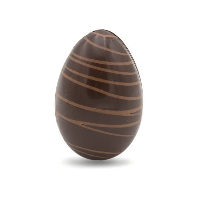 Chocomeli Easter striped egg (dark)