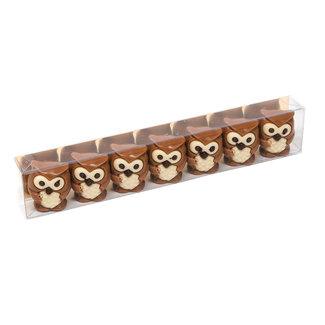Trezor Box of 7 owls (praline) 90Grs
