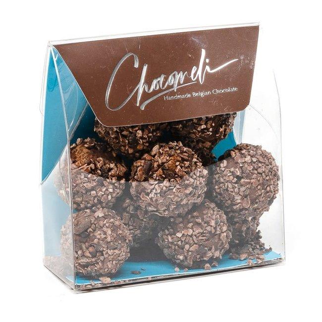 Chocomeli Truffles in bag (cocoa nibs)