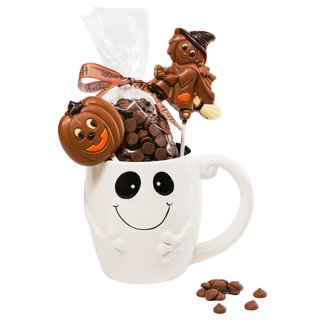 The Belgian Chocolate Makers Hot chocolate in cup ghost 200 Grs (milk)