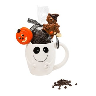 The Belgian Chocolate Makers Hot chocolate in cup ghost 200 Grs (dark)