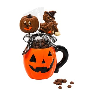 The Belgian Chocolate Makers Hot chocolate in cup pumpkin 200 Grs (milk)
