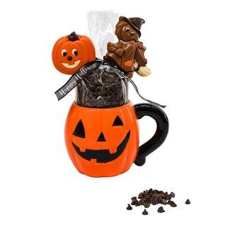 The Belgian Chocolate Makers Hot chocolate in cup pumpkin 200 Grs (dark)