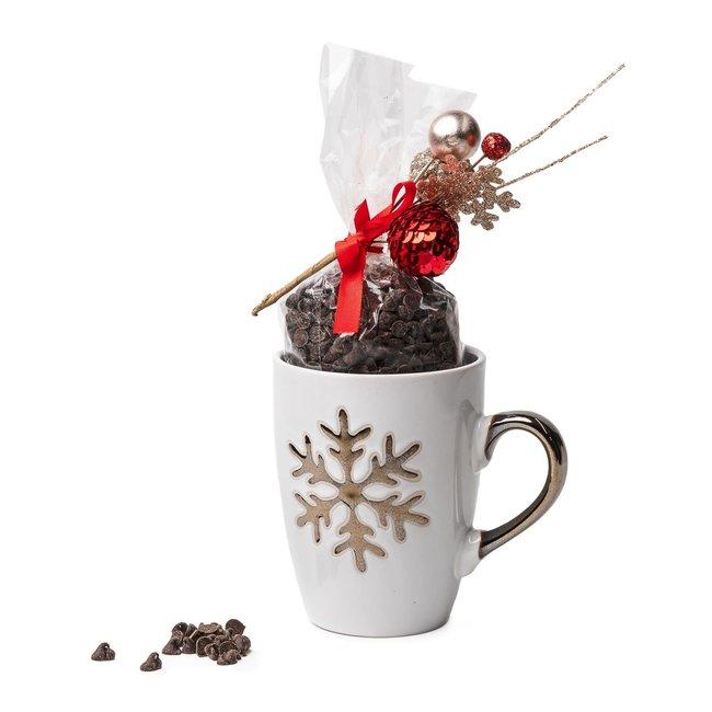 Chocomeli Hot dark chocolate in mug (snowflake) 200 Grs
