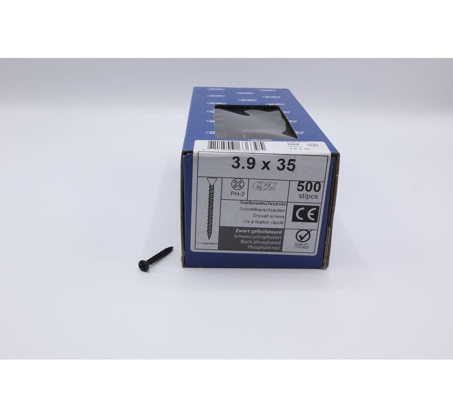 QZ fasteners snelbouwschroeven 3,9x35 500st