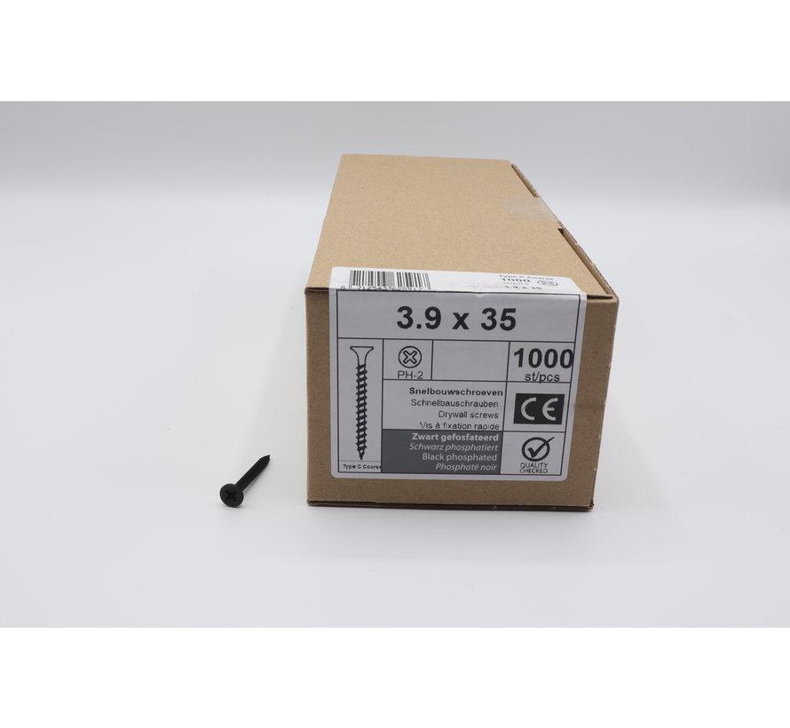 QZ fasteners snelbouwschroeven 3,9x35