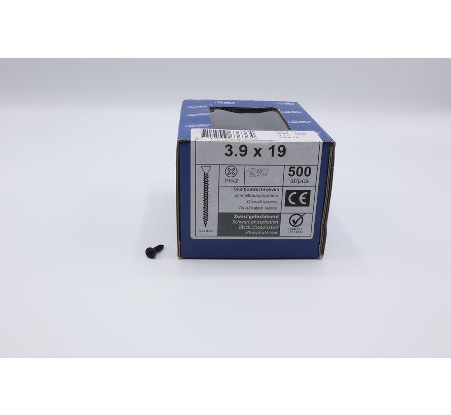 QZ fasteners snelbouwschroeven 3,9x19