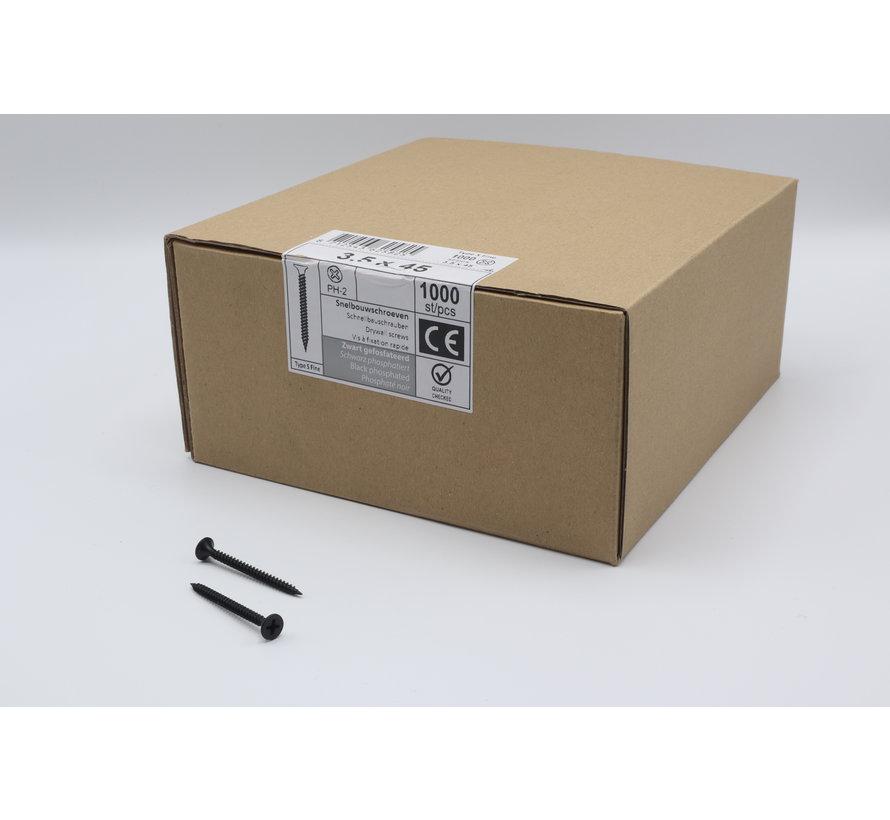 QZ fasteners snelbouwschroeven 3,5x45