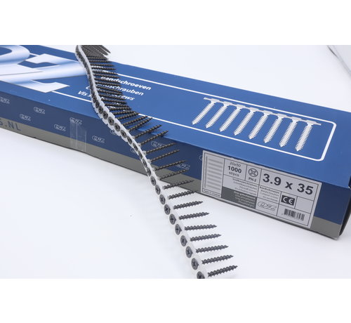 QZ-Fasteners QZ-Fastners™ Gipsplaatschroeven op band 3.9 x 35 mm