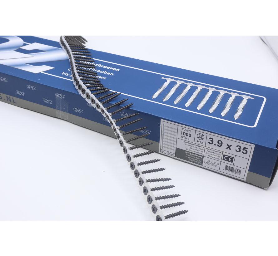 QZ-Fastners™ Gipsplaatschroeven op band 3.9 x 35 mm