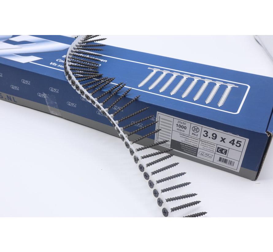 QZ-Fastners™ Gipsplaatschroeven op band 3.9 x 45