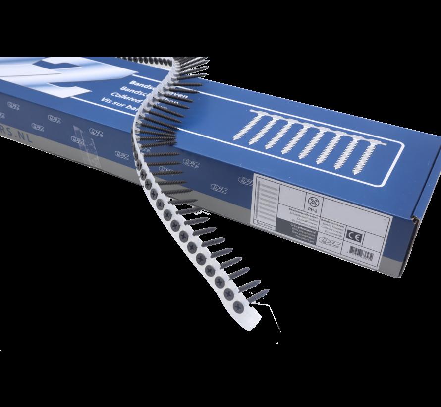 QZ-Fastners™ Gipsplaatschroeven op band  3.5 x 25 mm