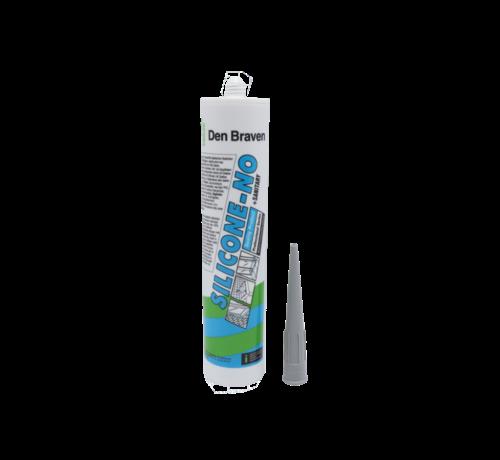 Zwaluw- Den Braven Den Braven Silicone NO + sanitairy  310ml GRIJS