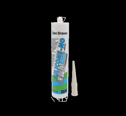 Zwaluw- Den Braven Den Braven Silicone NO + sanitairy  WIT 310ml
