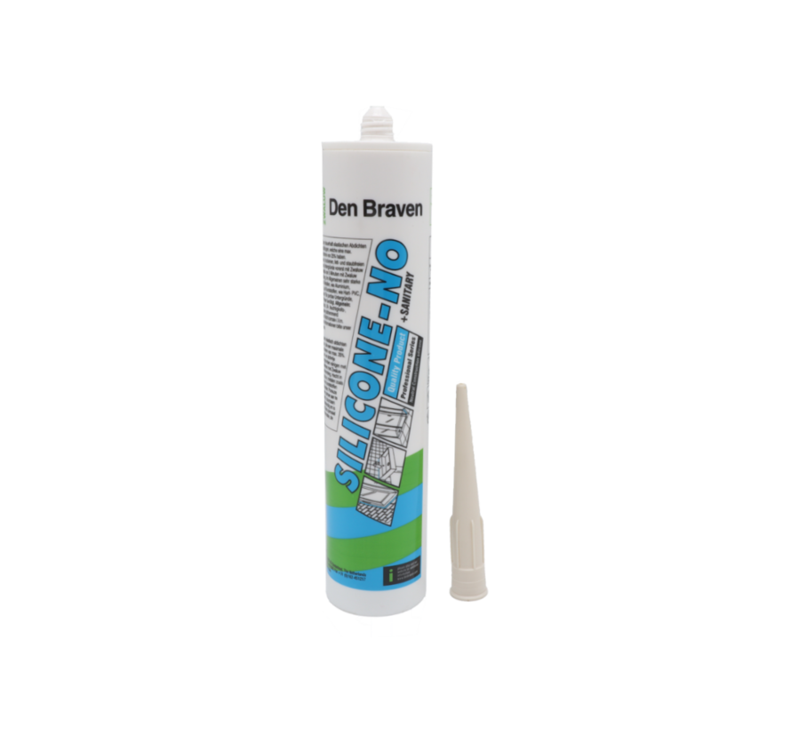 Den Braven Silicone NO + sanitairy  WIT 310ml