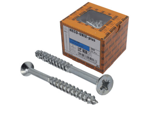 Heco HECO-UFIX®  Spaanplaatschroef verzinkt 5x80mm PK Pozidrive