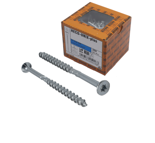 Heco HECO-FIX_PLUS® spaanplaatschroef RVS A2 platkop TX25 4,5X70MM