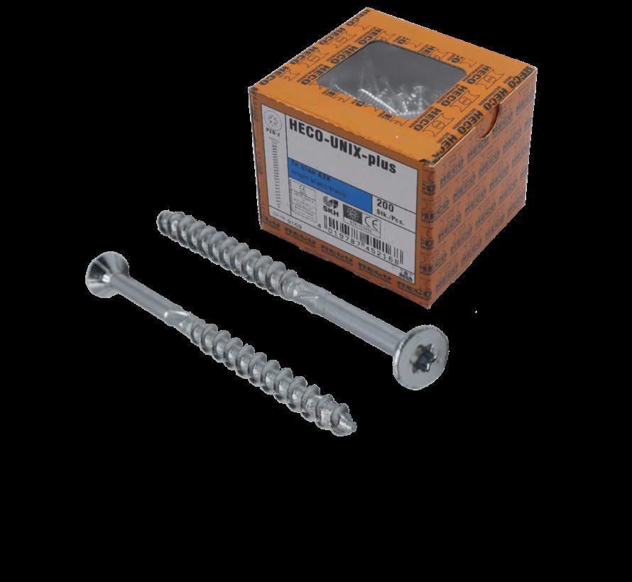 HECO-FIX_PLUS® spaanplaatschroef RVS A2 platkop TX25 6X40MM