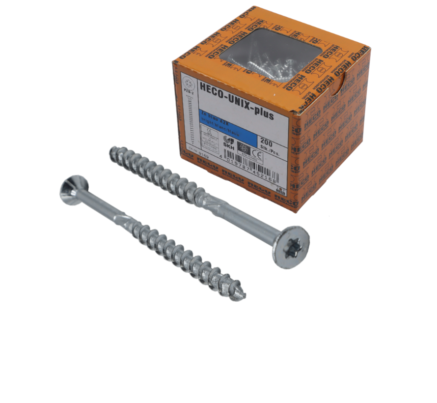 HECO-FIX_PLUS® spaanplaatschroef RVS A2 platkop TX25 6X180MM