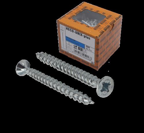Heco HECO-FIX_PLUS® spaanplaatschroef RVS A2 platkop PZ2 5X70MM