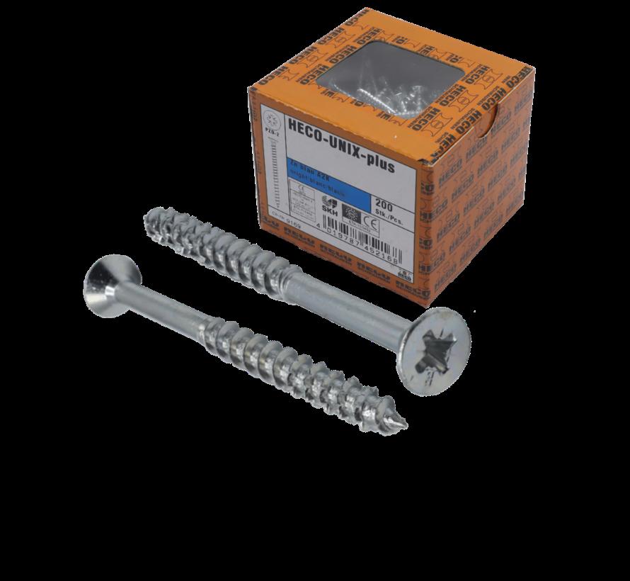 HECO-FIX_PLUS® spaanplaatschroef RVS A2 platkop PZ3 6X100MM