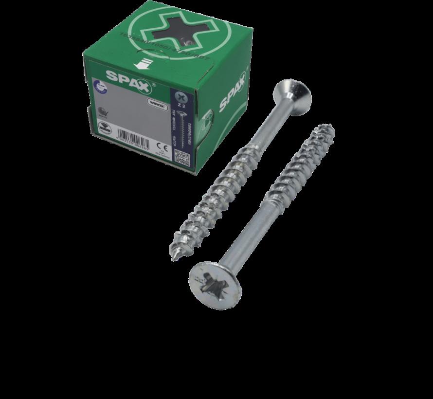 Spax®  T-STAR  spaanplaatschroef  RVS A2 platkop PZ2 4,5X60MM