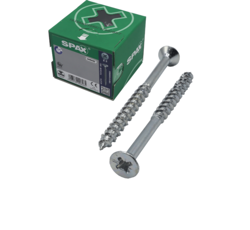 Spax Spax®  T-STAR spaanplaatschroef  RVS A2 platkop PZ2 5X70MM