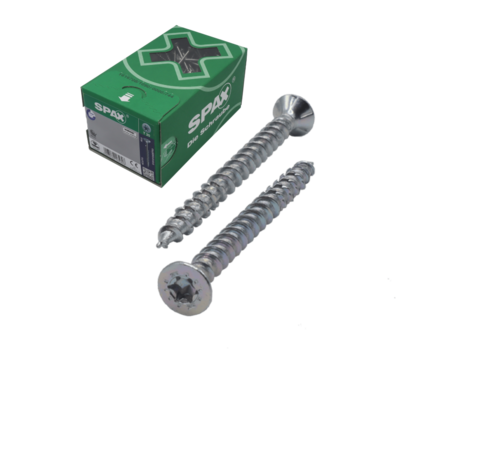 Spax Spax®  T-STAR  spaanplaatschroef RVS A2 platkop TX15 3.5X30MM