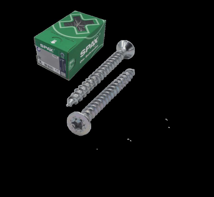 Spax®  T-STAR  spaanplaatschroef RVS A2 platkop TX15 3.5X30MM