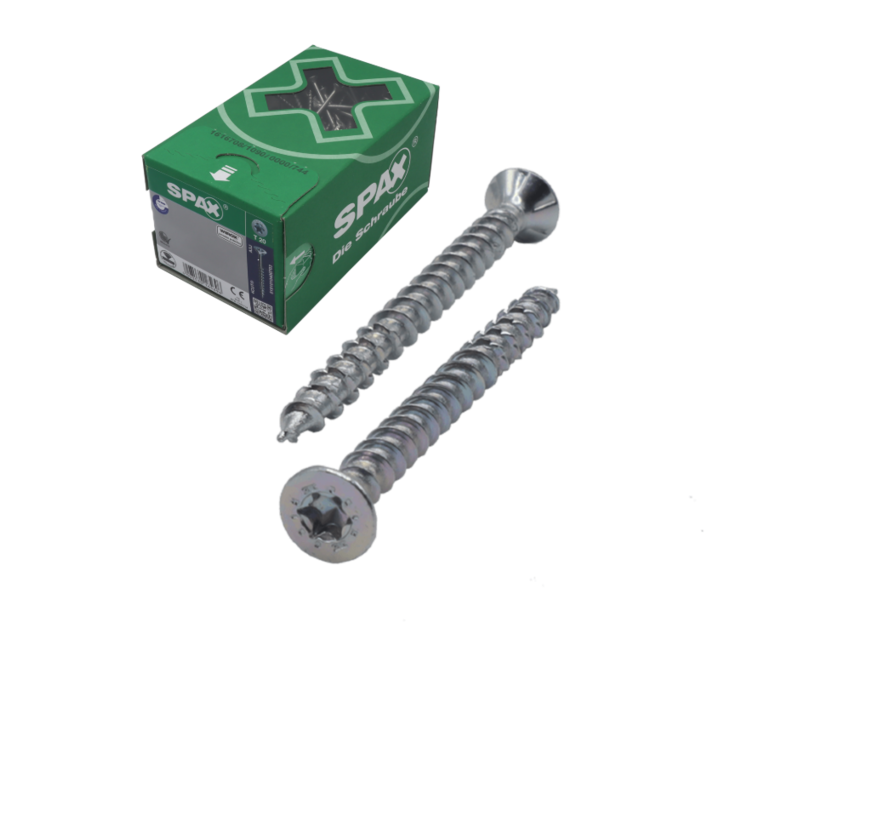 Spax®  T-STAR spaanplaatschroef RVS A2 platkop TX20 4X35MM