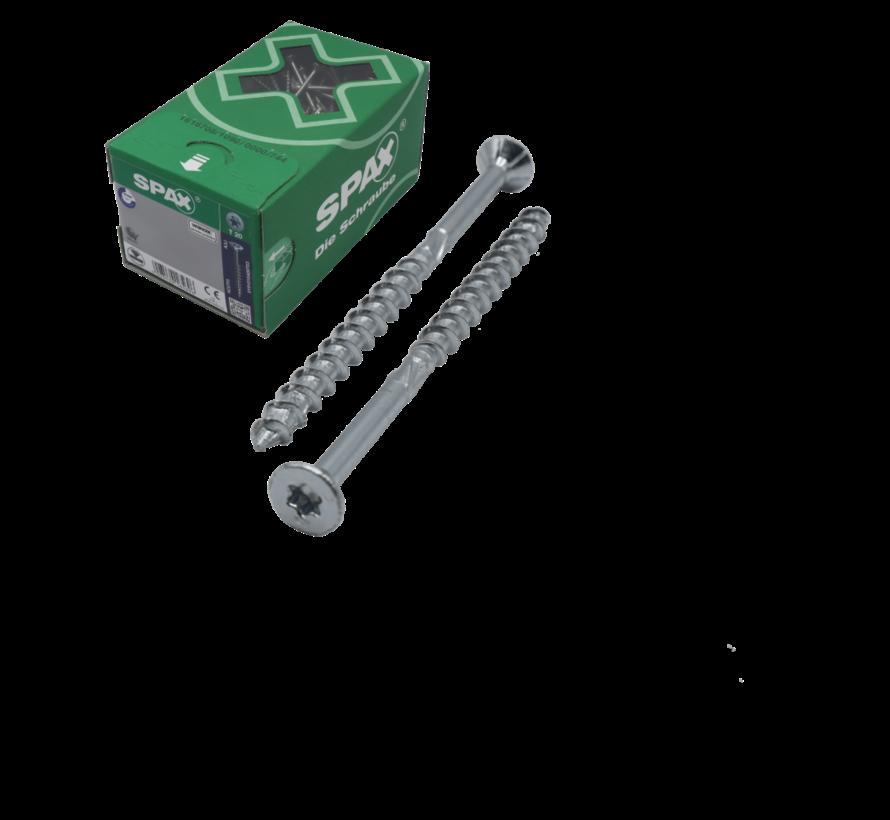 Spax®  T-STAR spaanplaatschroef RVS A2 platkop torx T30 6x80 mm