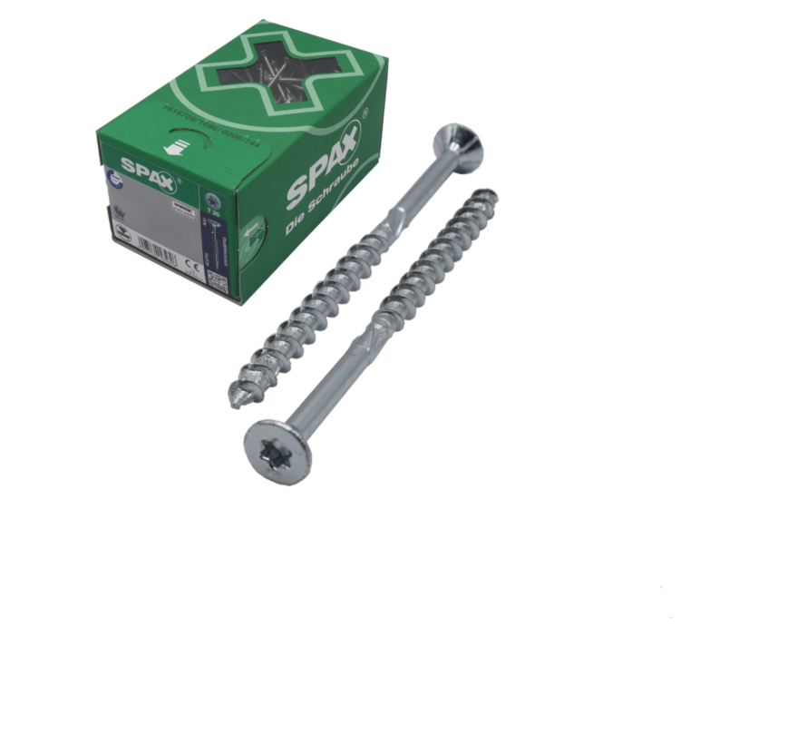Spax®  T-STAR spaanplaatschroef RVS A2 platkop torx T30 6x140 mm