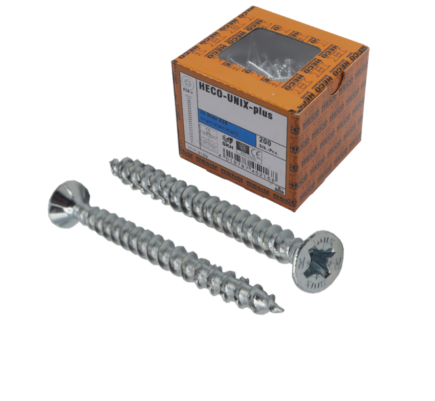 HECO-UNIX®  Spaanplaatschroef verzinkt 4x70mm PK Pozidrive