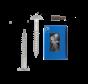 Trespa® schroef RVS Wit RAL9010 4,8x25mm