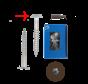Trespa® schroef RVS Bruin RAL8014 4.8x25mm