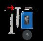 Trespa® schroef RVS Antraciet RAL7016 4,8x25mm