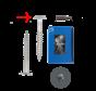Trespa® schroef RVS Grijs RAL7012 4,8x32mm