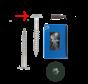 Trespa® schroef RVS Groen RAL6009 4,8x32mm
