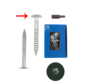 Trespa® schroef RVS Groen RAL6009 4,8x25mm