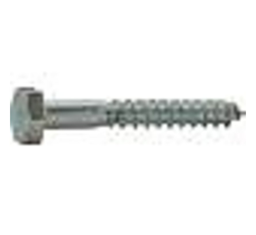Houtdraadbout 4.6 gegalvaniseerd 8x130mm