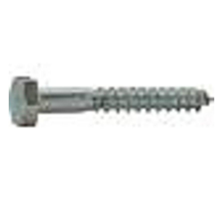 Houtdraadbout 4.6 gegalvaniseerd 12x130mm
